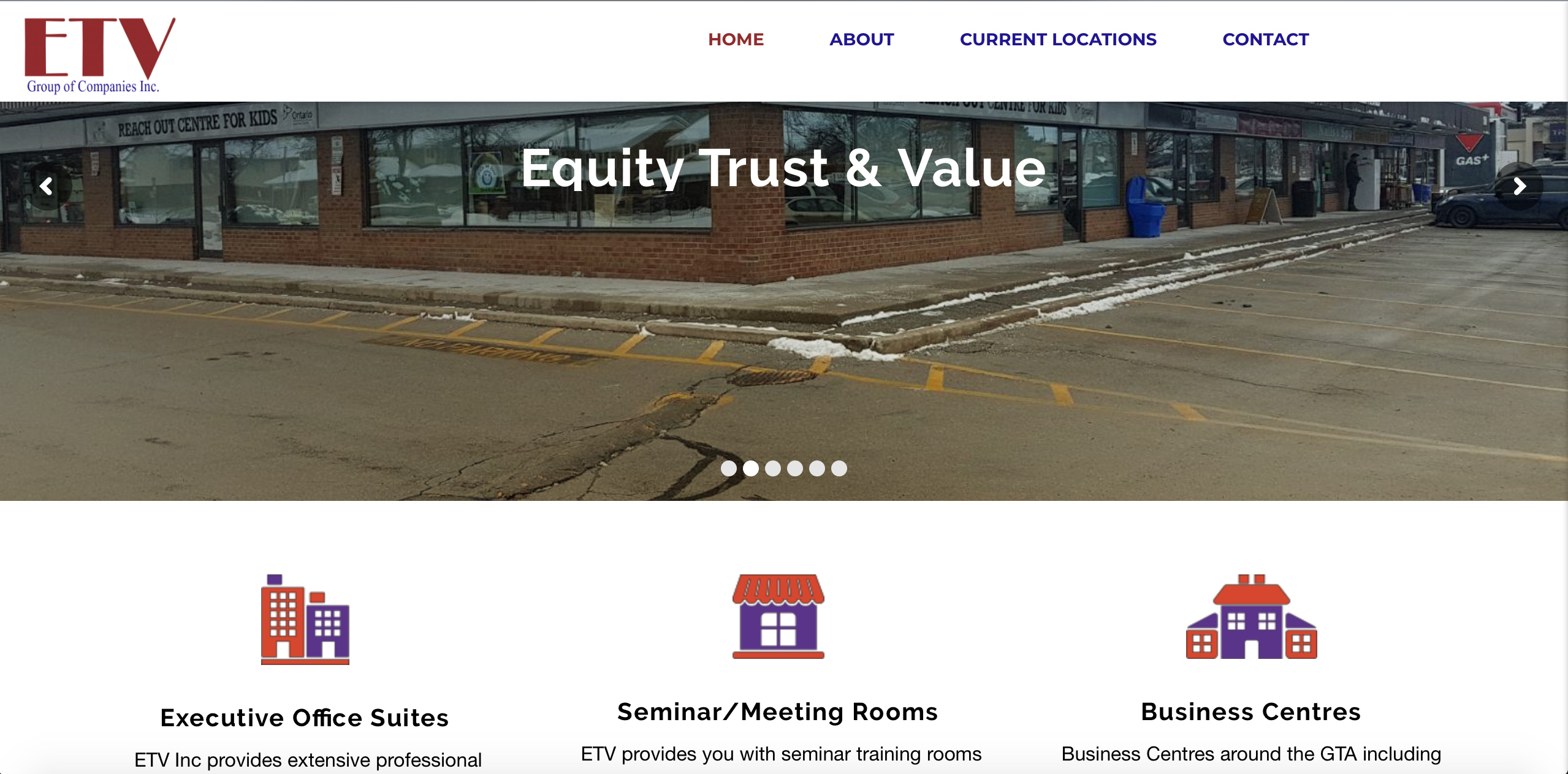 Etvinc Group of Companies Website Cover